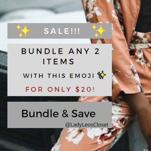 Bundle & Save! Feel Free 2 Make a Reasonable Offer